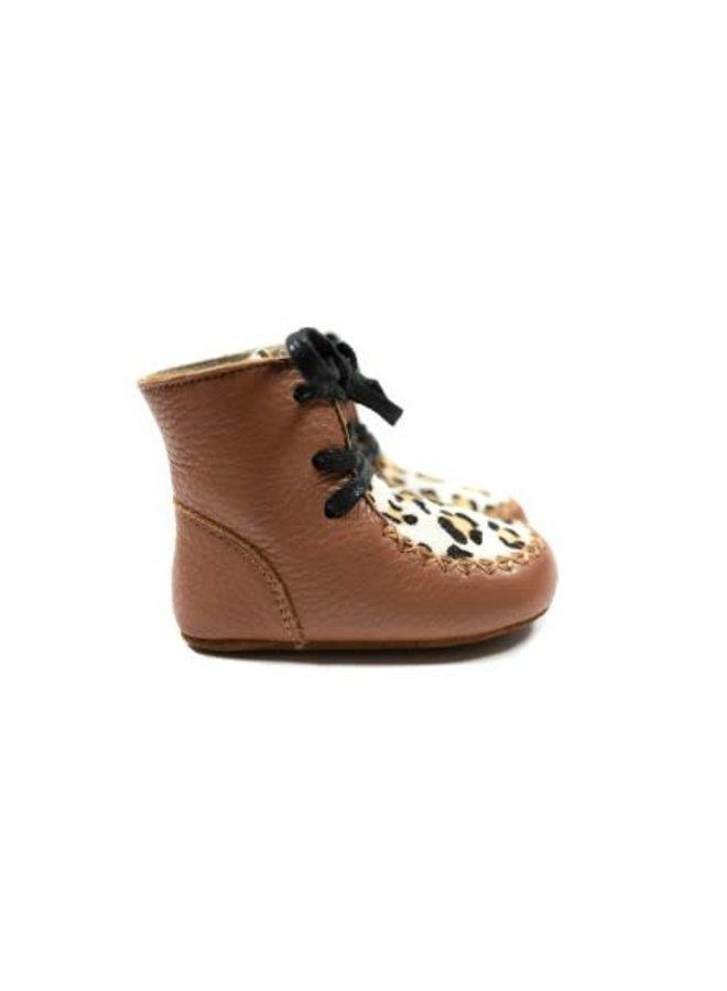 High Boots - Leopard Brown