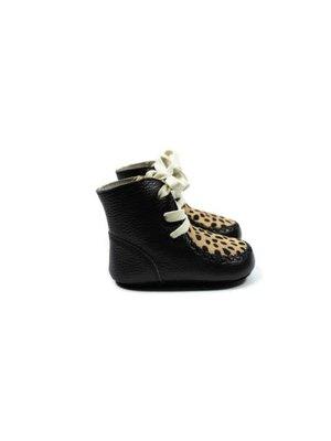 Mockies High Boots - Cheetah Black
