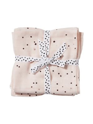 Done by Deer Burp cloth, 2-pack, Dreamy dots, powder