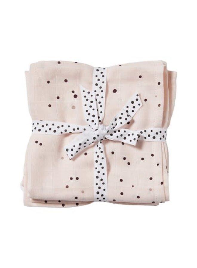 Burp cloth, 2-pack, Dreamy dots, powder