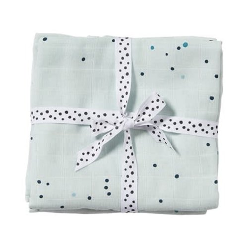 Done by Deer Swaddle, 2-pack, Dreamy dots, blue