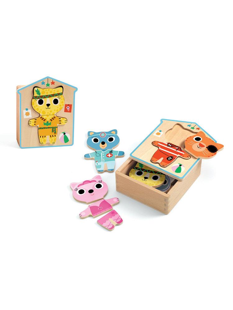 Djeco Puzzel spel - Aankleed mix - DJ01678