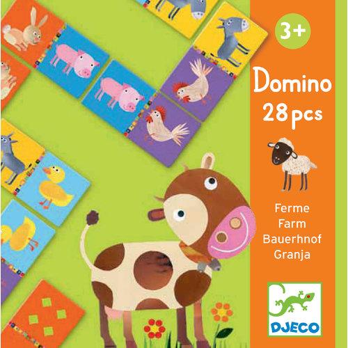 Djeco Domino Boerderij - DJ08158
