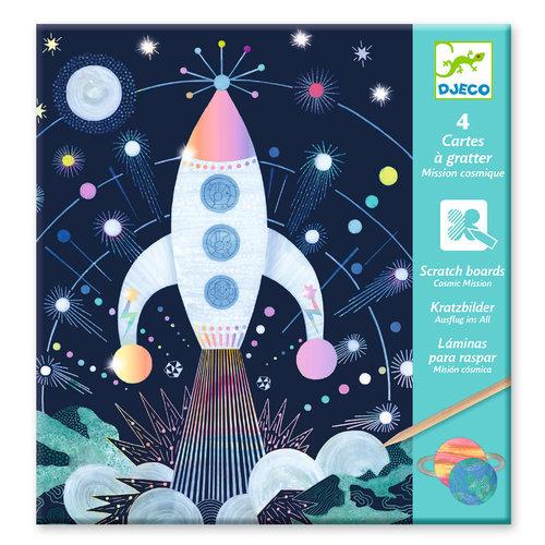 Djeco Kraskaarten - Cosmic Mission - DJ09727