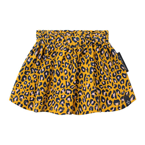 Your Wishes Skirt - Leopard - Ochre