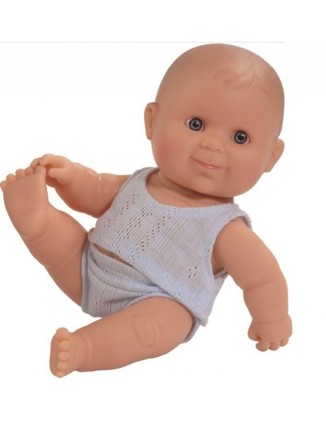 Puppegie blanke jongen (ondergoed/22cm)