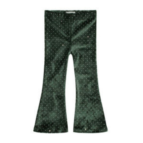 Your Wishes Sparkly Emerald | Flared Legging