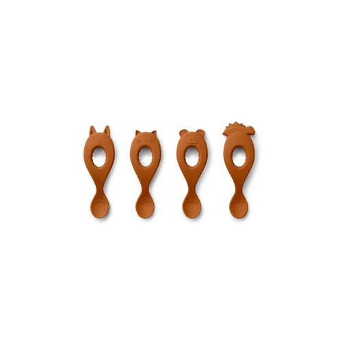 Liewood Liva Silicone Spoon 4 Pack - Mustard
