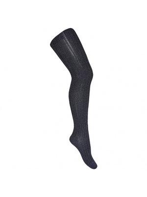 Condor Lurex rib tights -  Navy Blue - 946