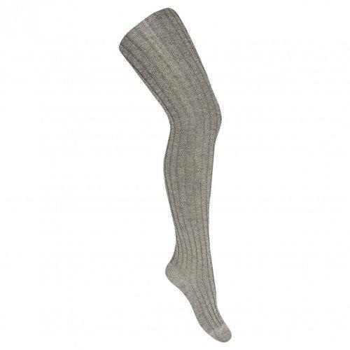 Condor Lurex rib tights - Light Grey - 230