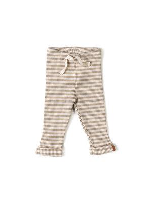 Nixnut Rib Legging - Stripe Biscuit/ Dust