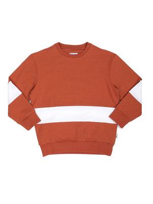 CarlijnQ Basic Sweats - Sweater Stripes - Rust & Coconut