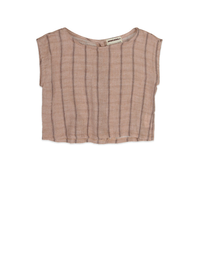 Lilly - Ss Top - Light Brown