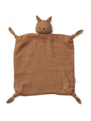 Liewood Agnete / Cuddle Cloth - Cat Terracotta