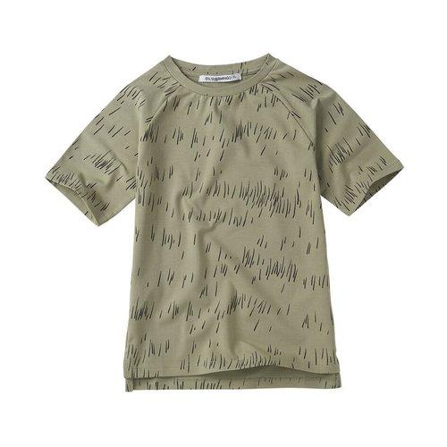 Mingo T-shirt - Grass Print Oak
