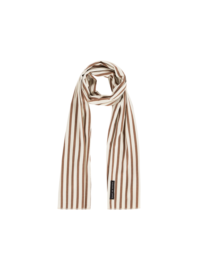 Long Summer Scarf - Toffee Stripes