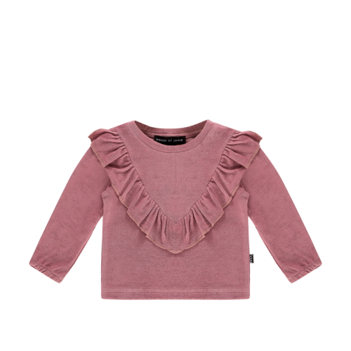 House of Jamie Front Ruffled Sweater - Orchid