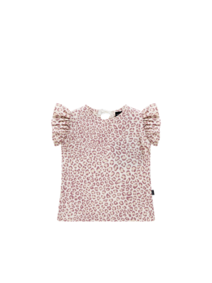 House of Jamie Ruffled Tee - Orchid Leopard