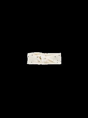 House of Jamie Turban Headband - Cream Black Dots
