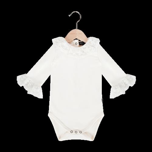 House of Jamie Lace Collar Bodysuit - Cream & Lace