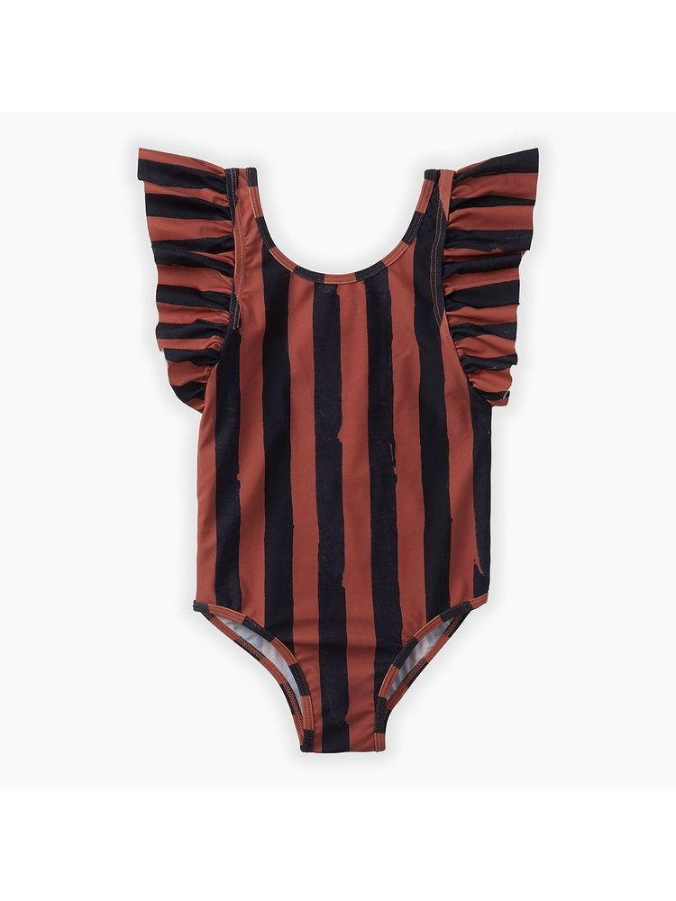 Sproet & Sprout Swimsuit - Painted Stripe - Mango