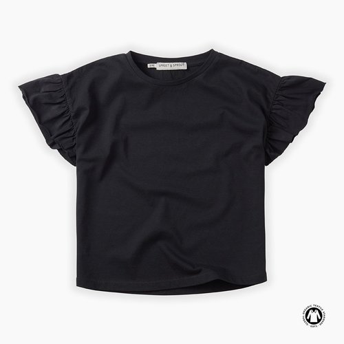 Sproet & Sprout T-Shirt - Ruffle - Asphalt