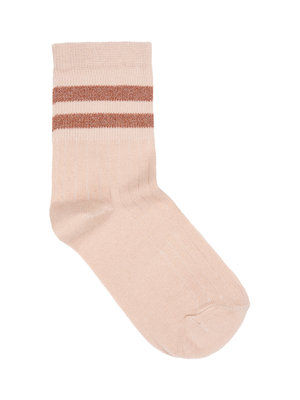 By-Bar Sparkle stripe sock - Nude