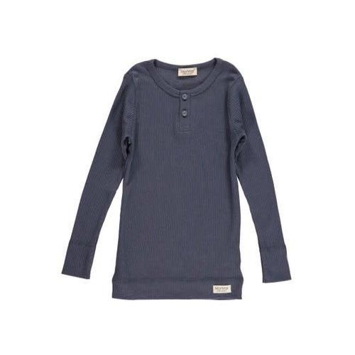 MarMar Copenhagen Tee LS, Modal - T-shirts - Blue