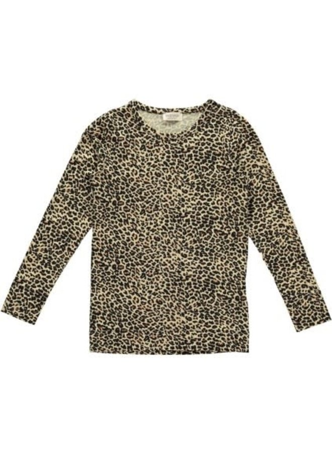 Leo Tee, Leopard - T-shirts - Brown Leo - 0902