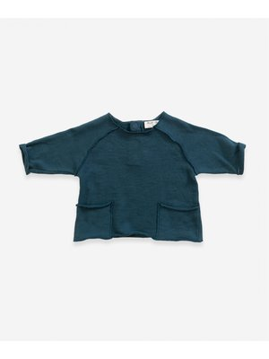 Play Up Sweater in organic cotton with pockets   Weaving - Deep