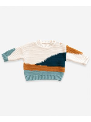 Play Up Knitted cardigan in organic cotton   Weaving