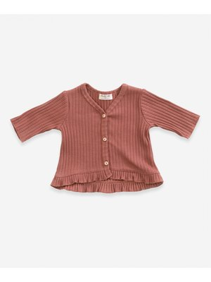 Play Up Cardigan with frill - Old Tile