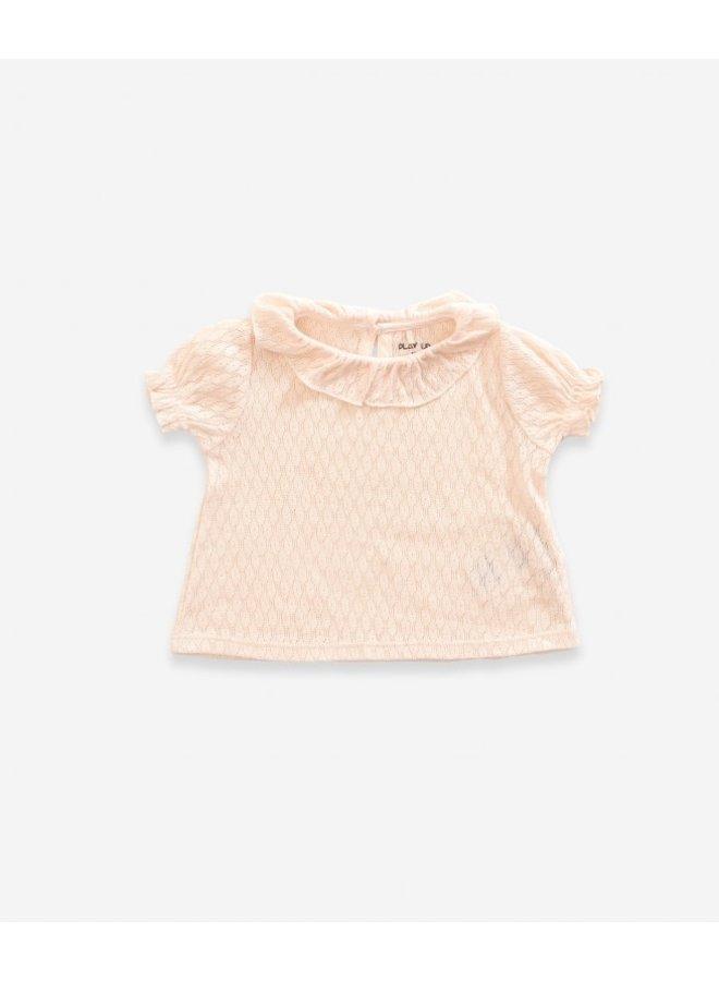 Ajour Rib T-Shirt - Seashell
