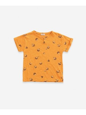 Play Up Printed Flamé Jersey T-shirt - Coconut