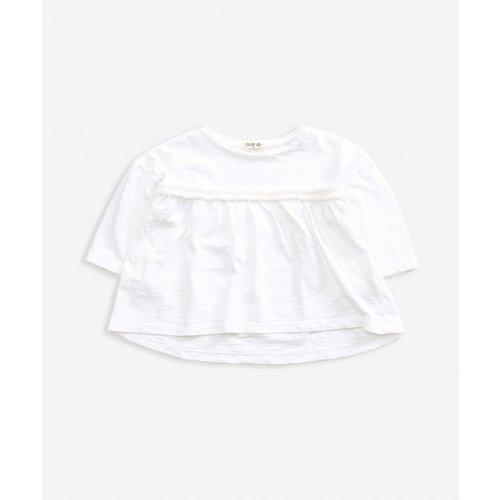 Play Up Flamé Jersey LS T-shirt - White