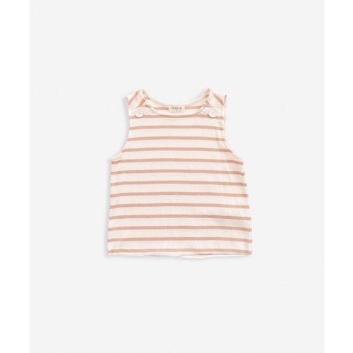 Play Up Striped Sleeveless RIB T-shirt - Smooth