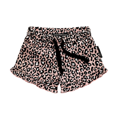 Your Wishes Leopard Pink | Ruffle Shorts