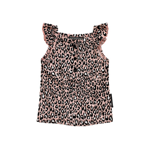 Your Wishes Leopard Pink   Ruffle Singlet