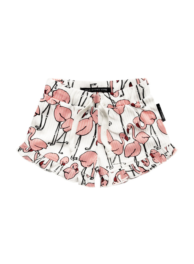 Flamingo | Ruffle Shorts
