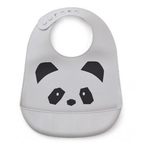 Liewood Tilda Silicone Bib - Panda Dumbo Grey