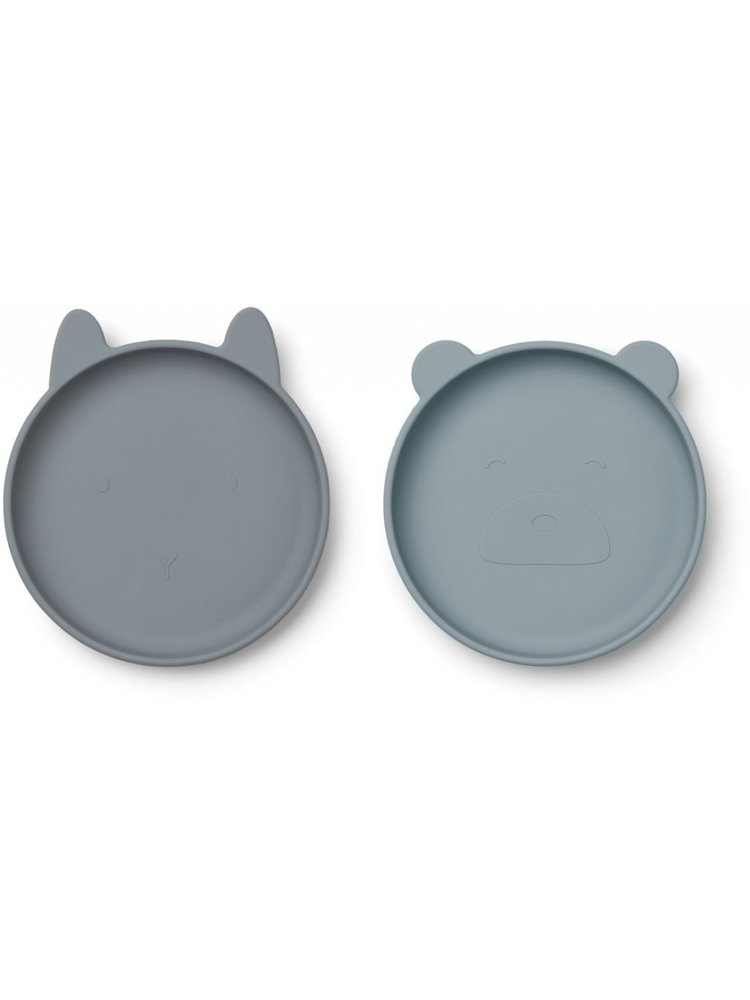Liewood Olivia plate - 2 pack - Blue mix