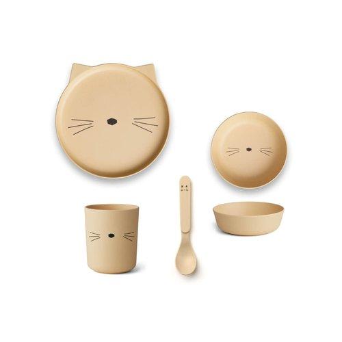 Liewood Bamboo Tableware Box Set - Smoothie Yellow