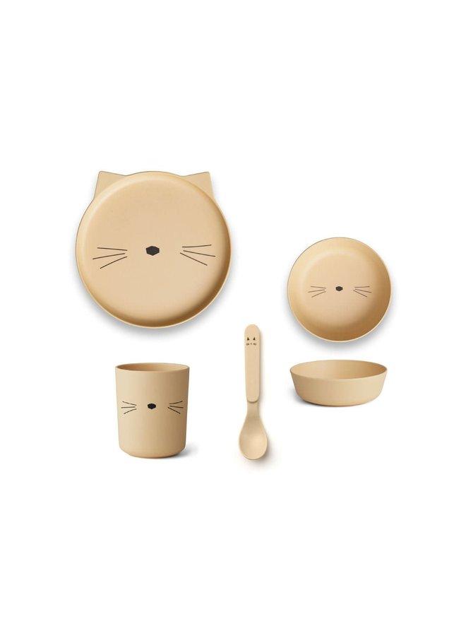 Bamboo Tableware Box Set - Smoothie Yellow