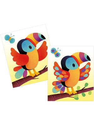Janod Atelier - Stickers plakken dieren kaarten