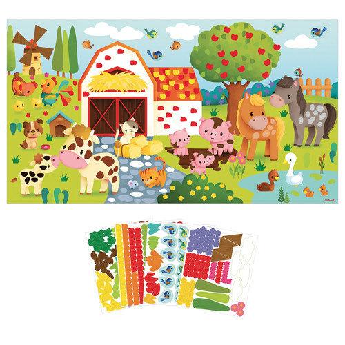 Janod Atelier - Stickers plakken boerderij poster