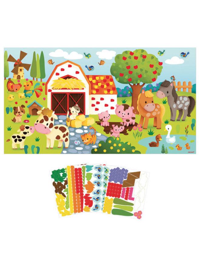 Atelier - Stickers plakken boerderij poster