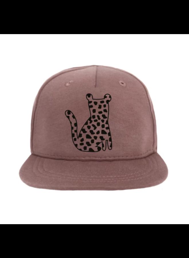Cap Leopard Spots - Dark Pink