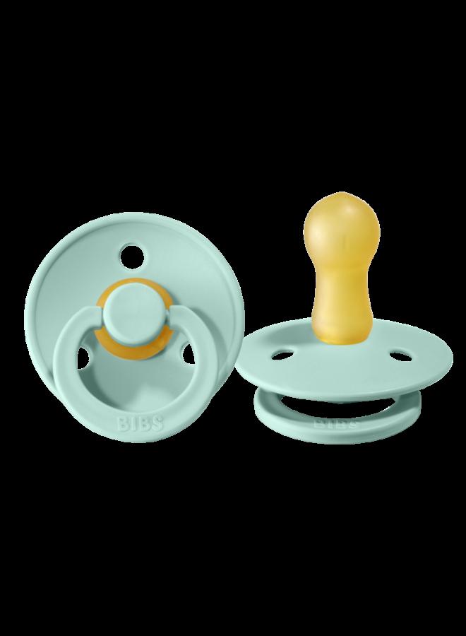 Bibs - Fopspeen natuurrubber - Mint - Maat 2