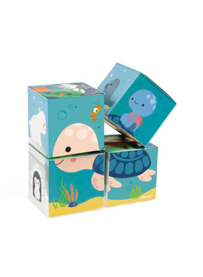 Badspeelgoed - 4 Bad kubussen