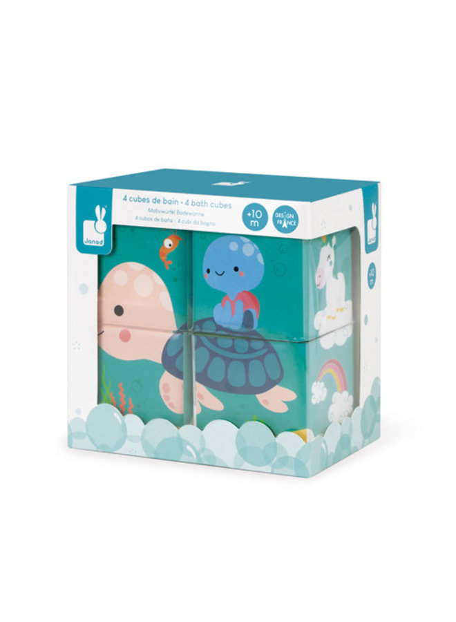 Janod - Badspeelgoed - 4 Bad kubussen
